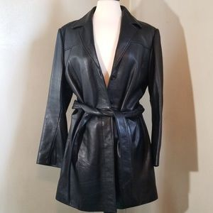 Black soft leather jacket